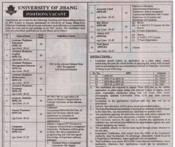 University of Jhang Jobs Teaching and Non-Teaching