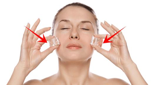 فوائد وضع الثلج على الوجه وكيفية إستخدامه