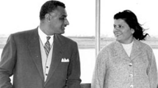 تحية كاظم زوجة الرئيس جمال عبد الناصر