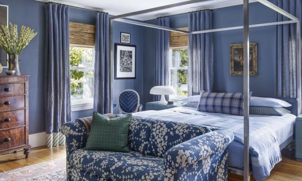 أشكال ديكورات باللون الأزرق 2020 أحدث تصميمات ديكورات صالات وغرف بالأزرق