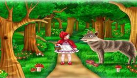 قصة ليلى والذئب ذات الرداء الأحمر