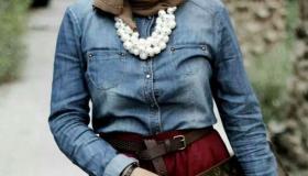 أحدث تصميمات قمصان جينز بناتى 2019 للمحجبات بالصور