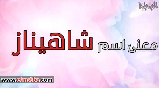 معنى اسم شاهيناز Shahinaz في اللغة العربية وصفات حاملة اسم شاهيناز