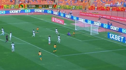 ملخص مباراة ساحل العاج وغانا اليوم الثلاثاء 19-11-2019 | نصف نهائي أفريقيا تحت 23 سنة