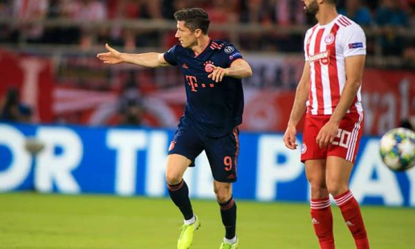 موعد مباراة بايرن ميونيخ وأولمبياكوس 6-11-2019 بدوري الأبطال والقنوات الناقلة