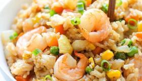 طريقة تحضير الأرز بالجمبري