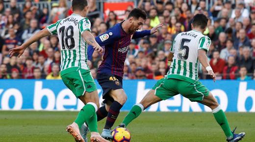 أهداف و ملخص مباراة برشلونة وريال بيتيس اليوم الأحد 9-2-2020 | الدوري الإسباني