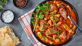 طريقة طهي البامية باللحم