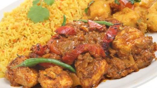 أرز بالدجاج وبالسمك