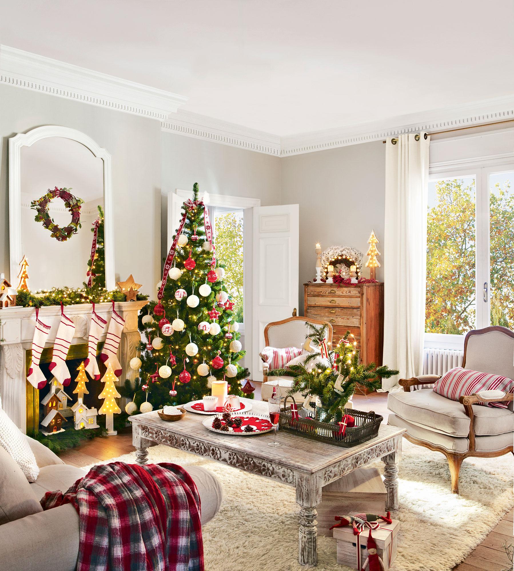 Decoracin De Navidad En Rojo Y Verde 15 Ideas Para