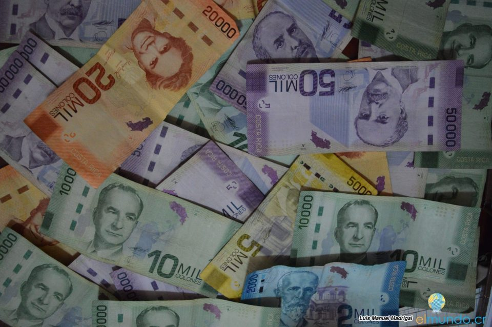 Dinero billetes economía colones