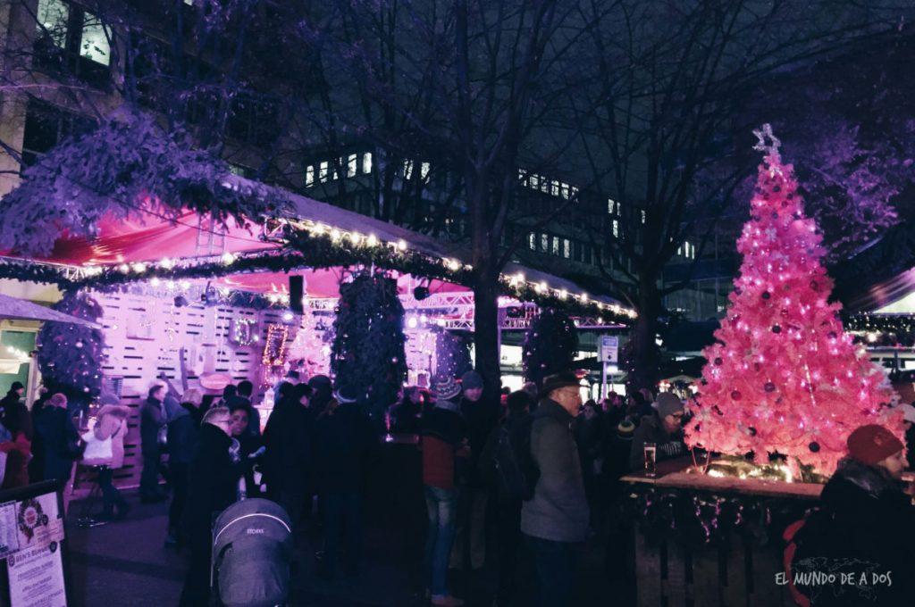 mercados de navidad en alemania. pink weinacht