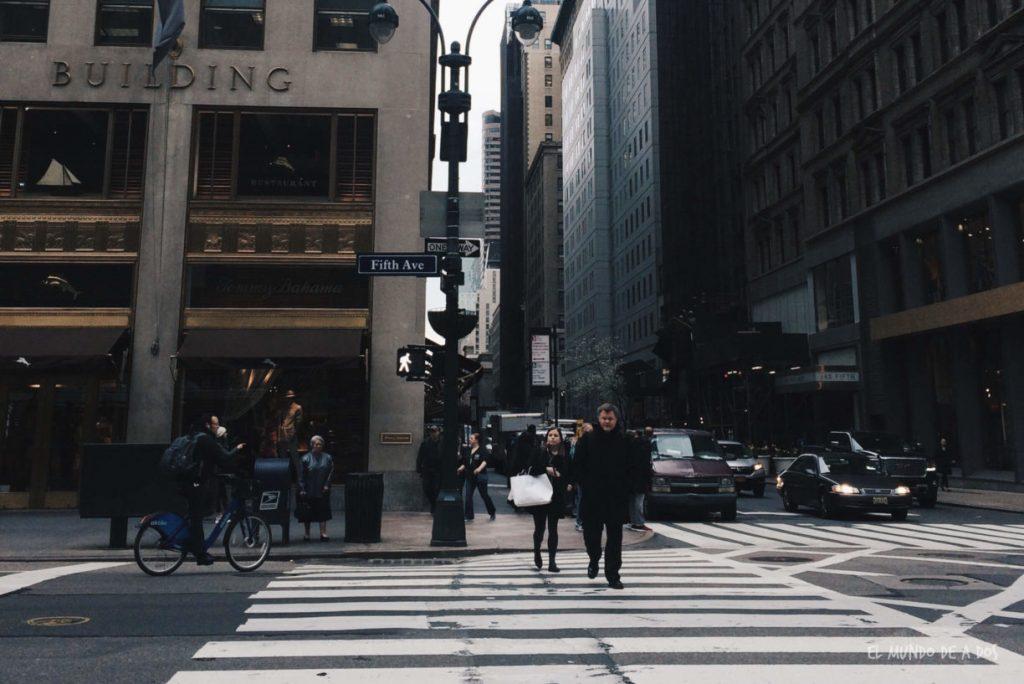 Quinta Avenida. Escala en Nueva York