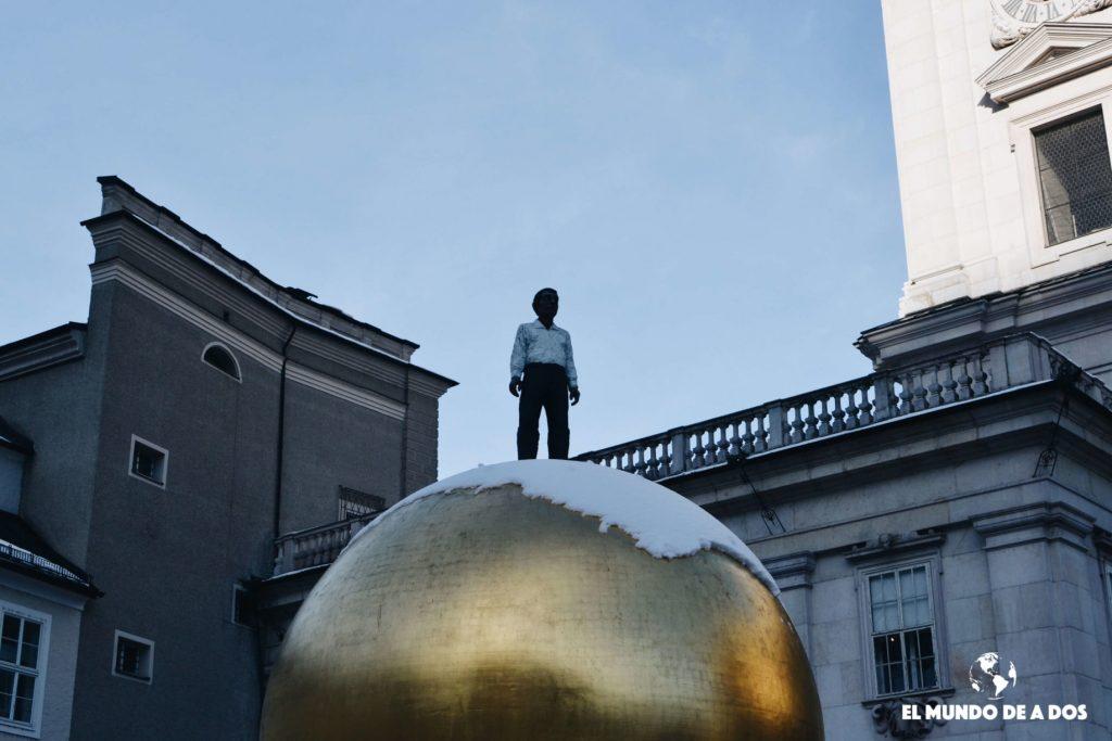 Bola dorada en Salzburgo. Salzburgo en un dia