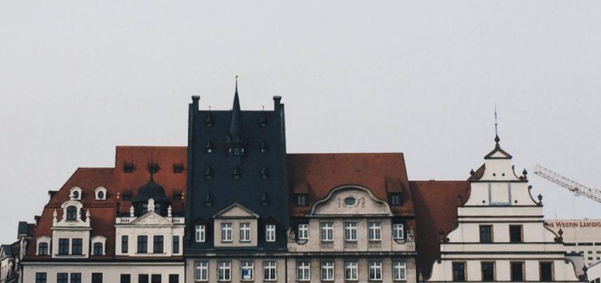 Tejados marketplace, Leipzig. Que ver en Leipzig.