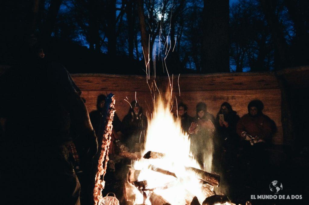 Reunidos en el fogón. Nieve y Fuego Ushuaia