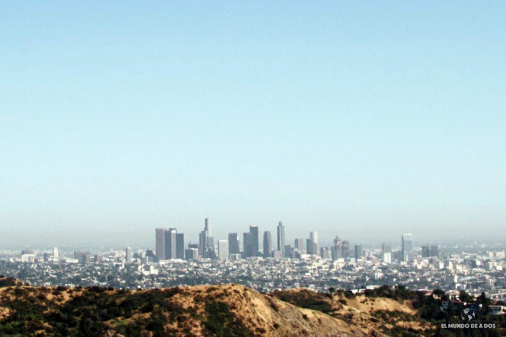 Vista panorámica de Los Angeles. Lugares para visitar en Los Ángeles California