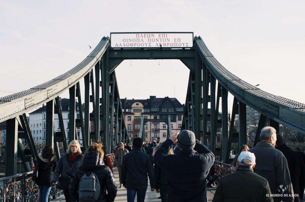 Eiserner Steg. Que ver en Frankfurt