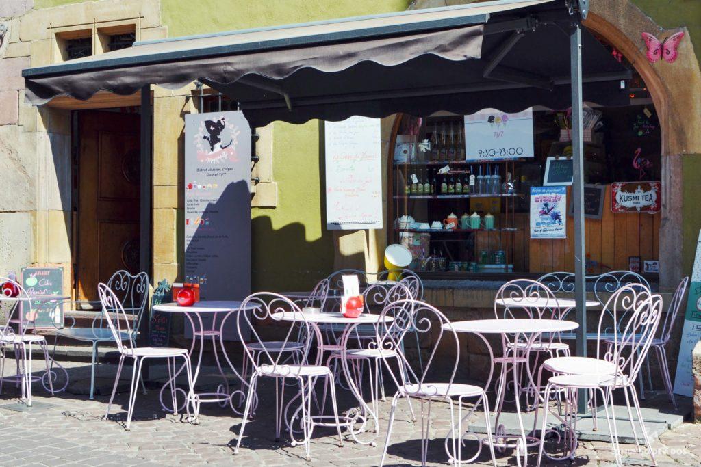 Típico café. Que ver en Colmar Francia