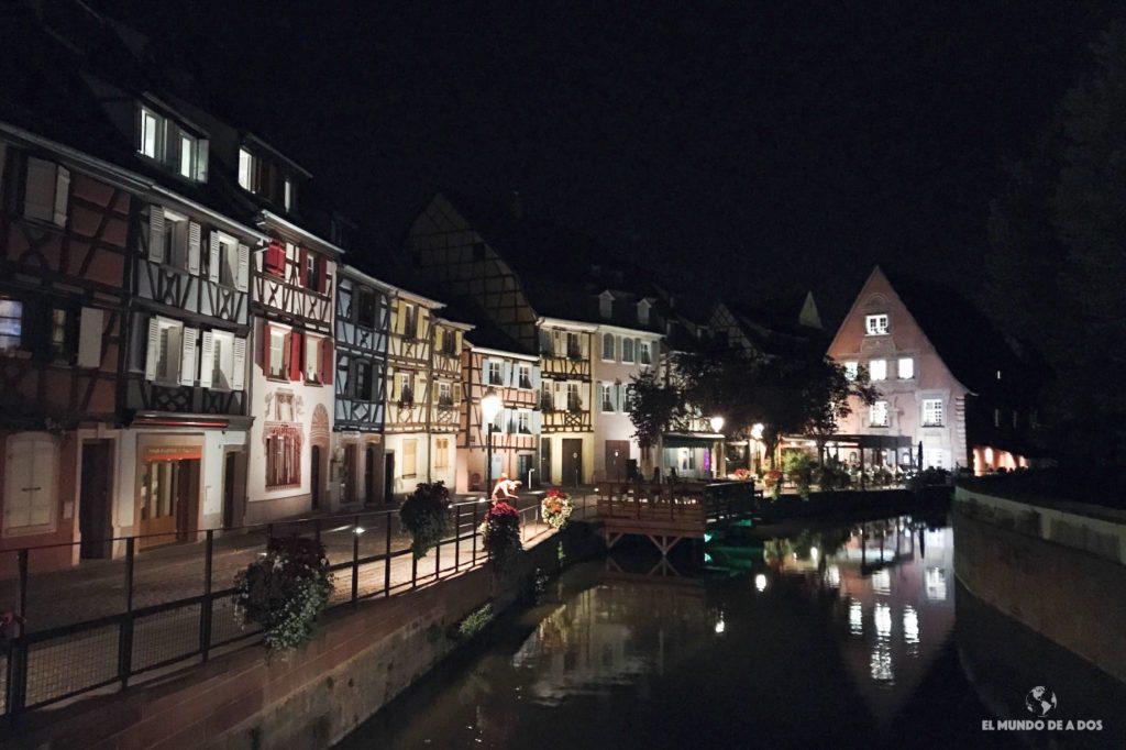 Petite Venise de noche. Que ver en Colmar Francia