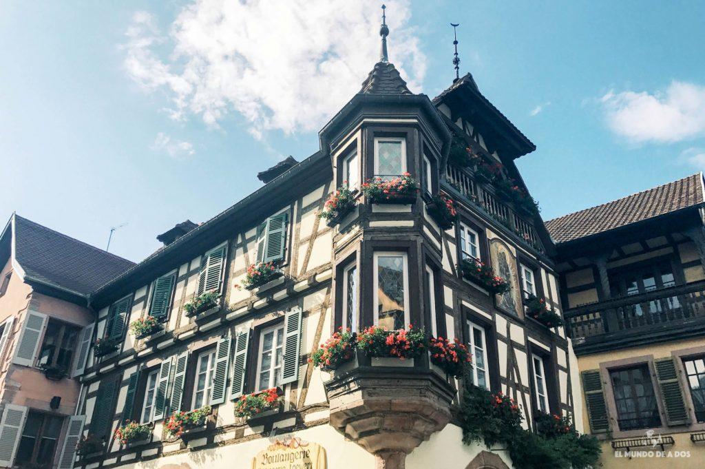 Arquitectura de la ciudad vieja. Kaysersberg Francia