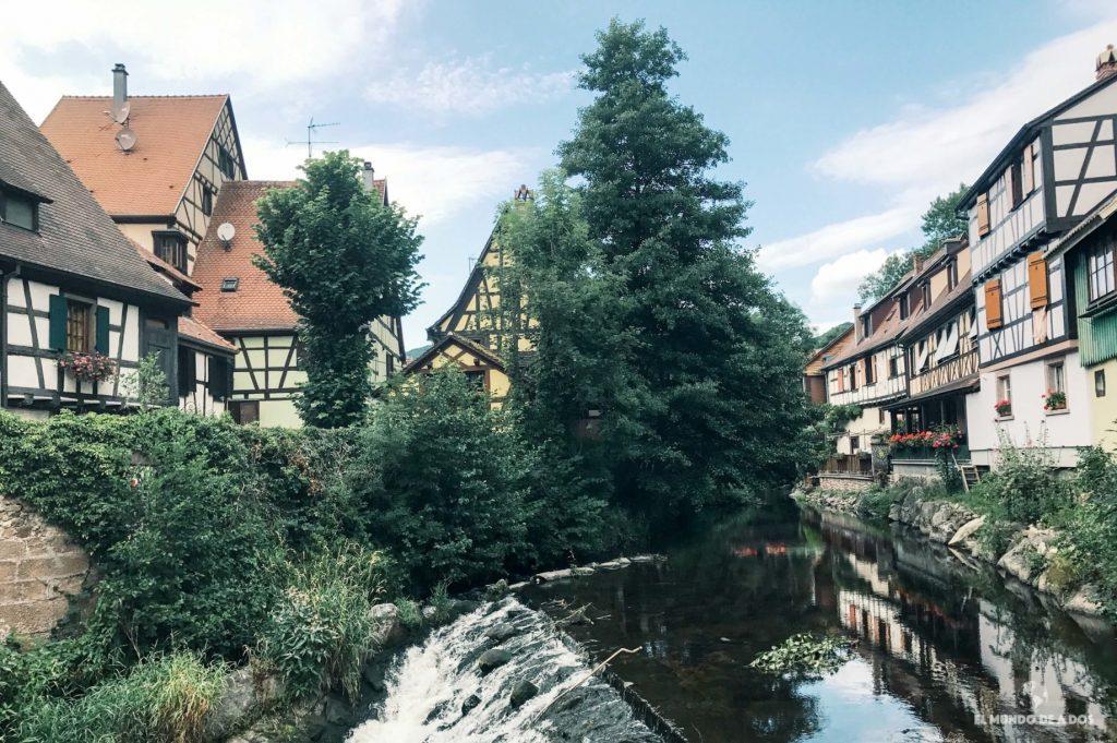 El barrio de Kaysersberg. Kaysersberg Francia