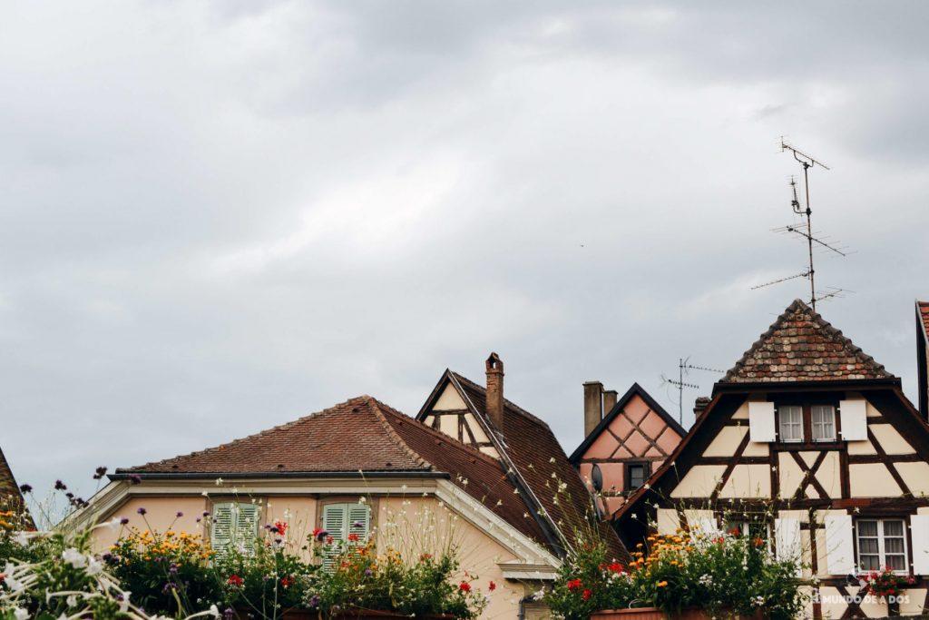 Tejados de Eguisheim. Eguisheim Francia