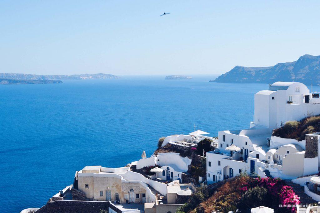 Fira y la caldera. Caldera de Santorini