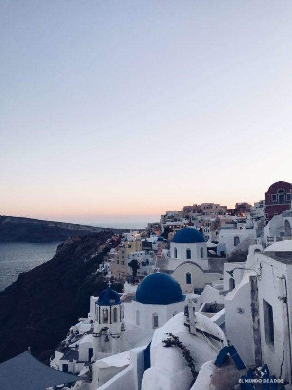Atardecer en Oia. Que ver en Santorini en 3 días