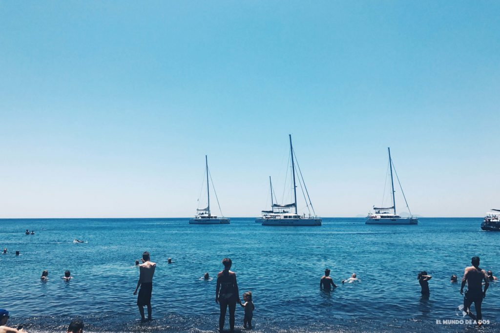 Red beach. Que ver en Santorini en 3 días