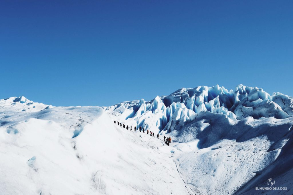 Comenzando la excursión. Minitrekking Perito Moreno