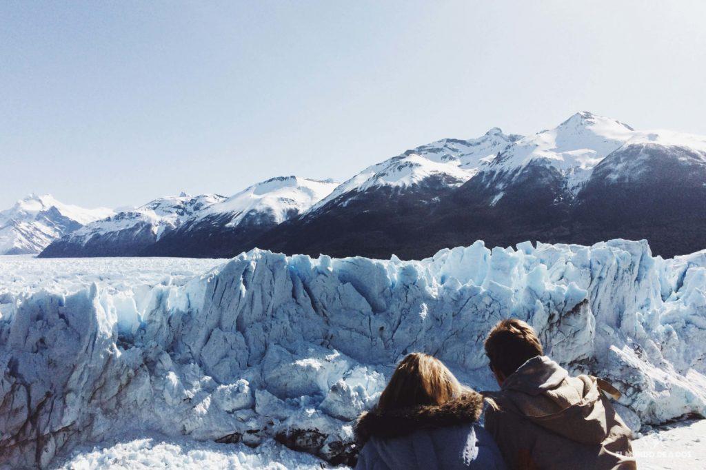 Contemplando el glaciar. Minitrekking Perito Moreno