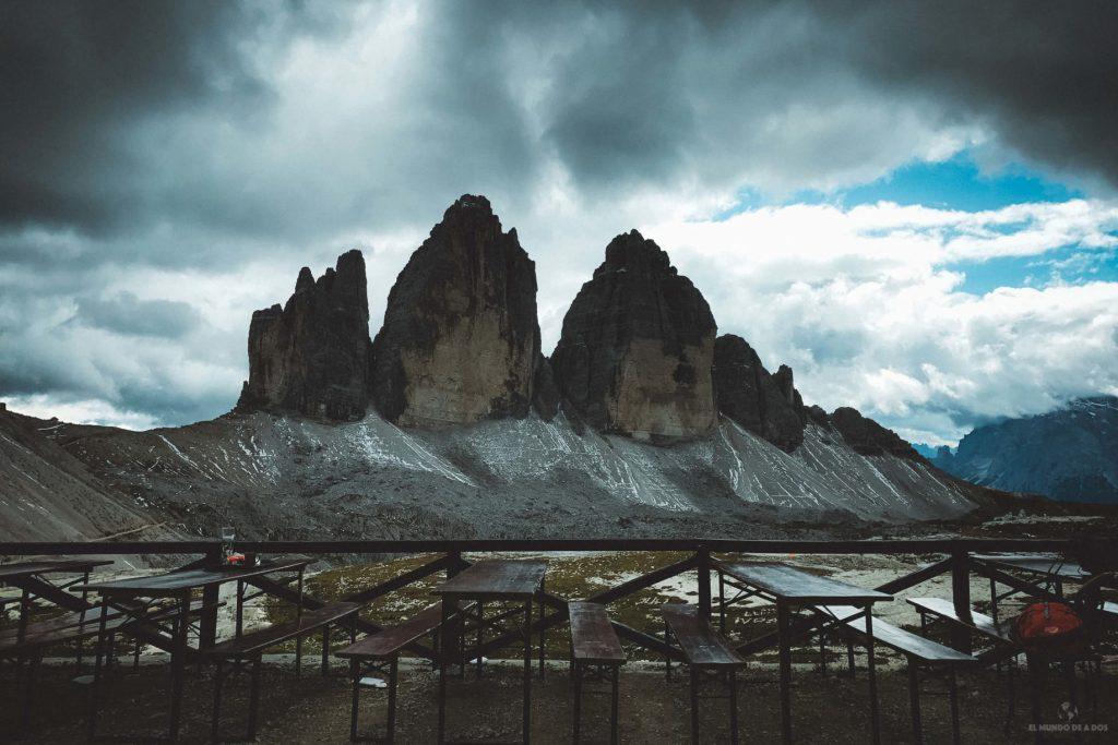 Las Tres Cimas de Lavaredo desde el Refugio Locatelli