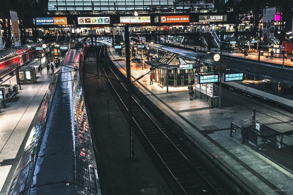 Estación central de Hamburgo. Viajar en tren por Europa