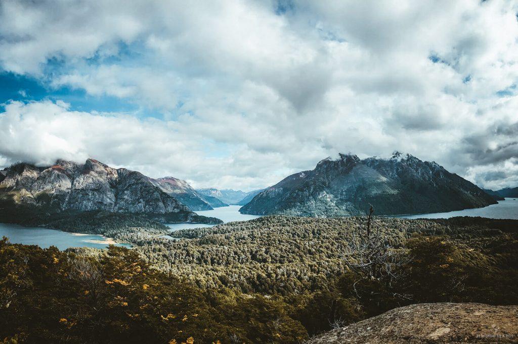Vista desde el Cerro Llao Llao en el Circuito Chico Bariloche