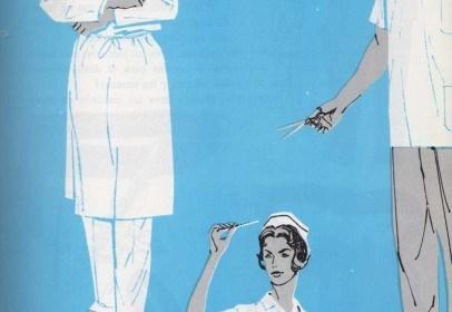 Vestidos y delantales blancos