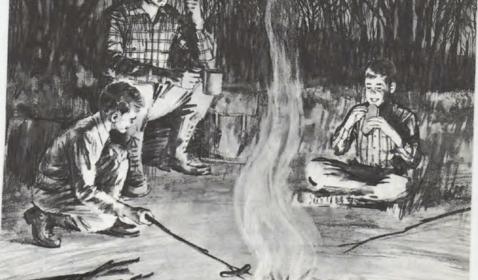 Cómo hacer un fuego de campamento