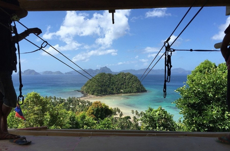 El Nido Filipinas - Tirolina