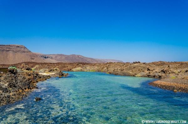 Playa de Jacomar - Charcos turquesas