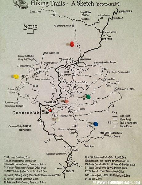 que-hacer-en-cameron-highlands-mapas de senderos
