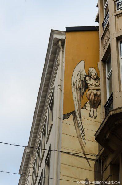 Que ver en Bruselas en dos días - Ruta de street art, el ángel