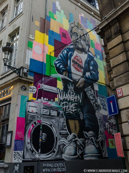 Que ver en Bruselas en dos días - Ruta de street art, Manneken Peace