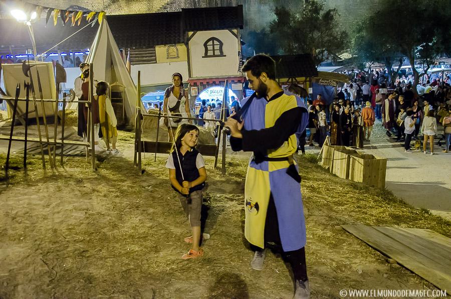 Qué ver en Óbidos - Entrenamiento-con-espadas