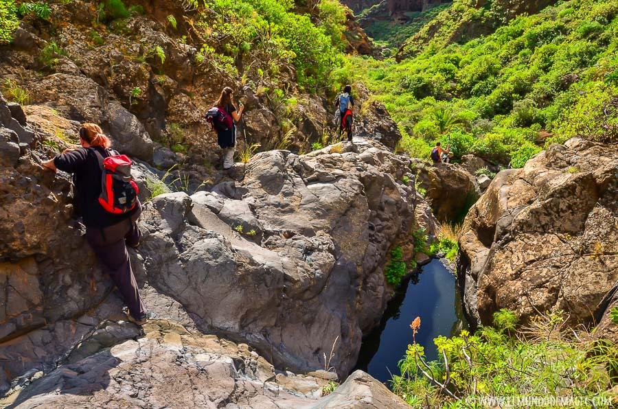 Senderismo en Gran Canaria - Pozas