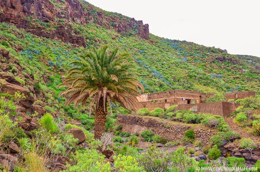 Senderismo en Gran Canaria - Inicio de la segunda parte en Aguatona