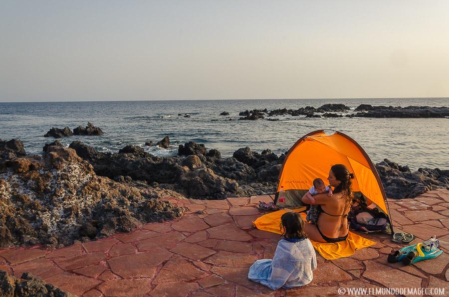 La playa en El Hierro con bebés