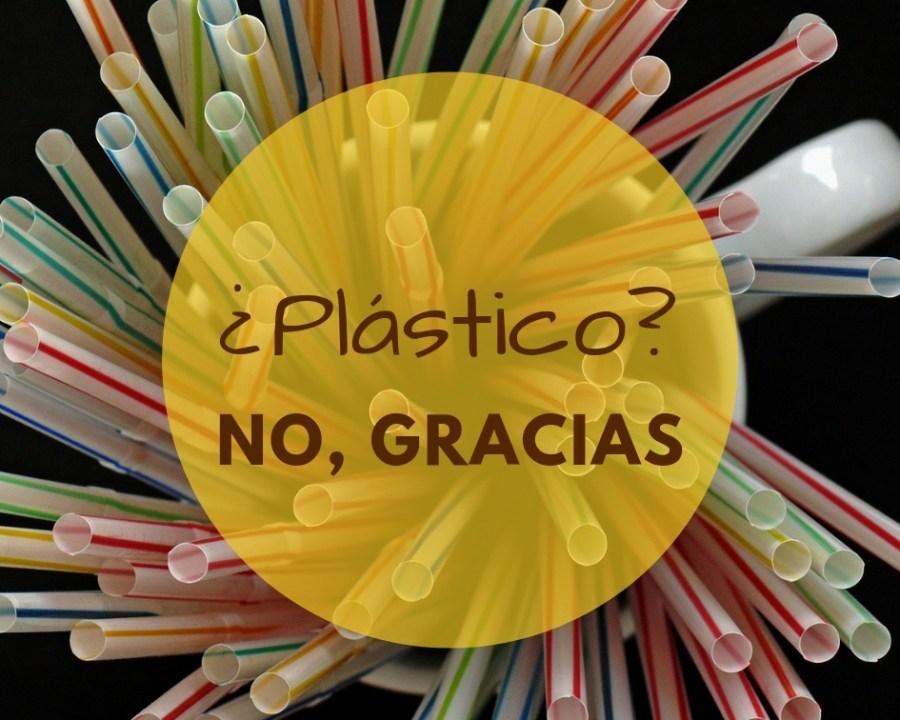 Pajitas de plástico, no gracias.