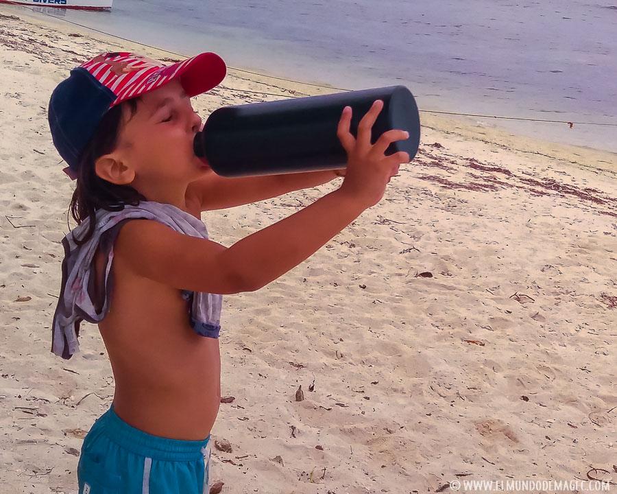 Botellas metálicas para viajar sin plástico