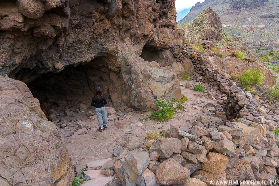 Algunas de las cuevas de La Fortaleza