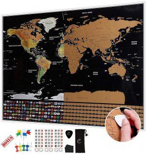 regalos para familas viajeras - mapa rascar